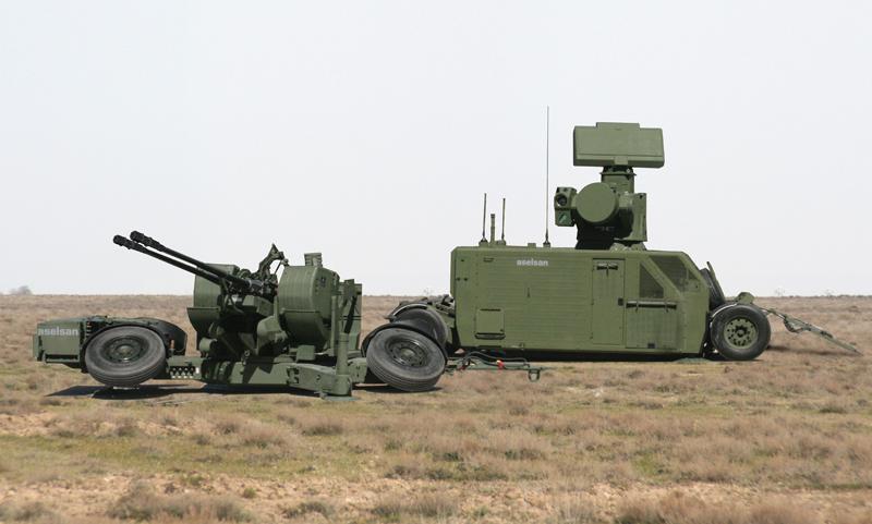 Oerlikon PARM 35 mm Parçacıklı Mühimmat Kullanılan Sistem